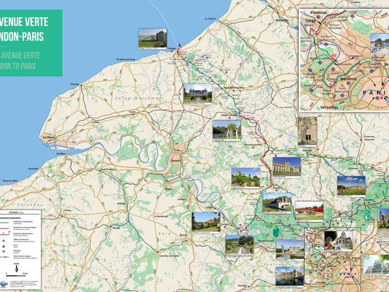A detailed map of the cycle route